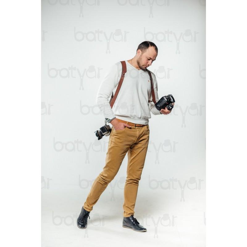 """Шкіряні розгрузки для фотографів на дві фотокамери  """" BRUTAL CLASSIC """" HANDMADE"""